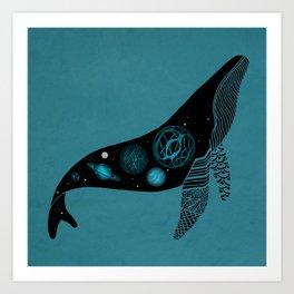 Whale Soul & the Galactic Tour Art Print