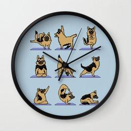 German Shepherd Yoga Wall Clock