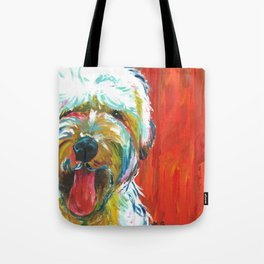 Soft-Coated Wheaten Terrier // Colorful  Tote Bag