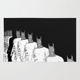 The Bat Black and White Fading Away Rug