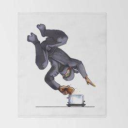 Ninja Making Toast Throw Blanket