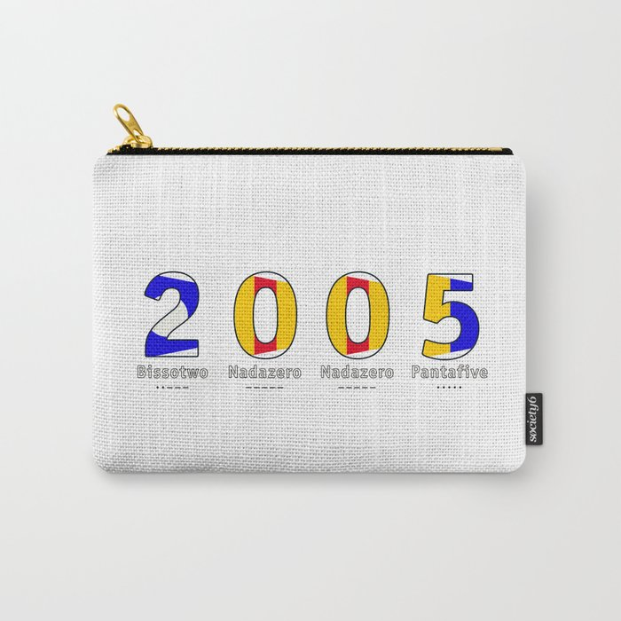 2005 - NAVY - My Year of Birth Carry-All Pouch