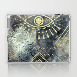 Evil Eye Gold Laptop & iPad Skin