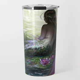 Little mermaid - Lonley siren watching kissing couple Travel Mug