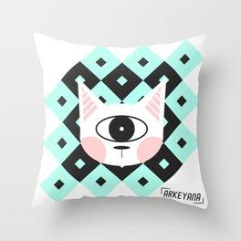 Cat Cyclops Throw Pillow