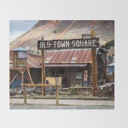 Old Town Square - Silverton, Colorado Throw Blanket