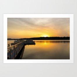 Sunrise on the Dock Art Print