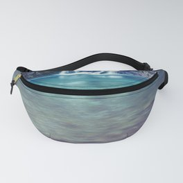 Teal Blue Waterfall Cove Fanny Pack