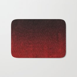 Red & Black Glitter Gradient Bath Mat