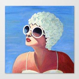 Vivian goes for a dip. Canvas Print