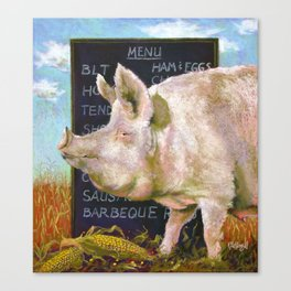 The Vegan Canvas Print