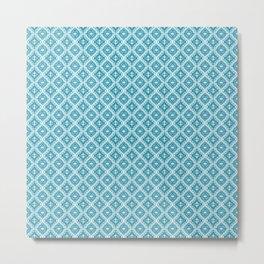 blue pattern 8 Metal Print