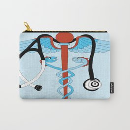 medical caduceus and stethoscope Carry-All Pouch