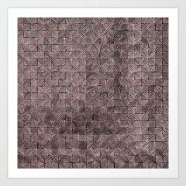 Ink Stitch: Rose Gold Art Print