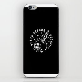 Death Before Decaf iPhone Skin