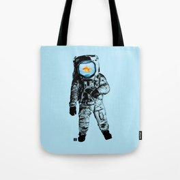 Goldfish Astronaut Tote Bag