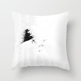 Paper Webbing Throw Pillow