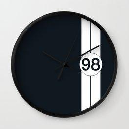 racing stripe .. #98 Wall Clock