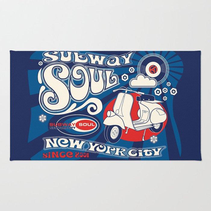 Soul Scoot Subway Soul by Dawn Carrington Rug