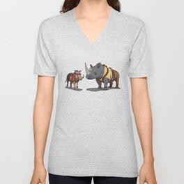 Warthog and Rhino Animal Cosplay Unisex V-Neck