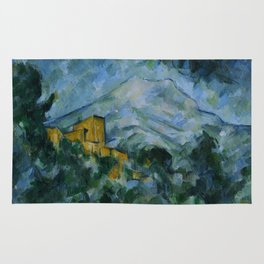 Paul Cezanne - Mont Sainte-Victoire and Chateau Noir Rug