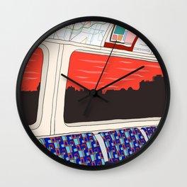 View from London Jubilee Line Wall Clock