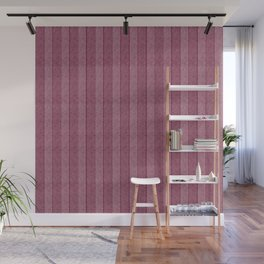 """Pink Vertical Lines Wool Texture"" Wall Mural"