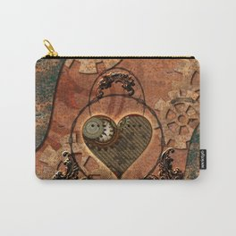 Steampunk, rusty heart Carry-All Pouch