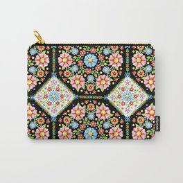 Millefiori Tile Pattern Carry-All Pouch