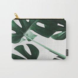 Monstera, Leaves, Plant, Green, Scandinavian, Minimal, Modern, Wall art Carry-All Pouch