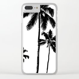 Monochrome tropical palms Clear iPhone Case
