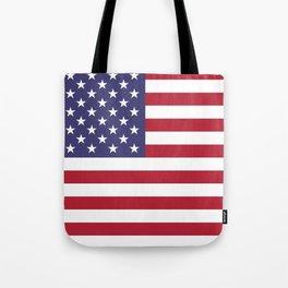 USA flag - Hi Def Authentic color & scale image Tote Bag