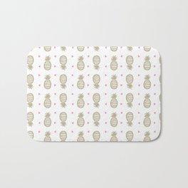 Golden pineapple pattern Bath Mat