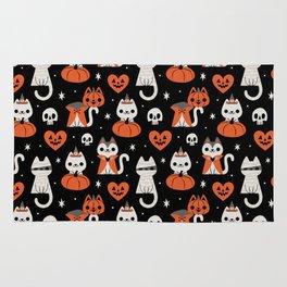 Halloween Kitties (Black) Rug