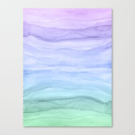Layers Blue Ombre - Watercolor Abstract Canvas Print