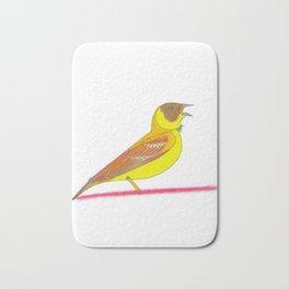 Singing bird Bath Mat