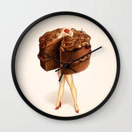 Cake Girl - Chocolate Wall Clock