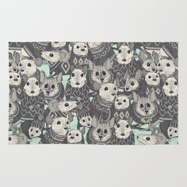 sweater mice mint Rug