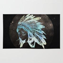 Moon Child Goddess Bohemian Girl Rug