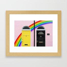 Neighbourly Love Framed Art Print