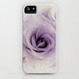 wet purple rose iPhone Case