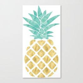 Gold Pineapple Canvas Print