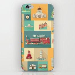 San Francisco Landmarks iPhone Skin
