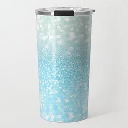 Mermaid Sea Foam Ocean Ombre Glitter Travel Mug