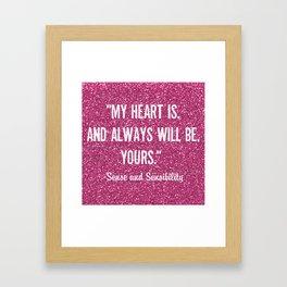 Sparkly Sense & Sensibility Framed Art Print