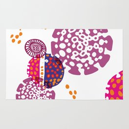 Micro pink and ultra violet composition Rug