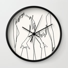 Best Friends For Ever Wall Clock