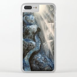 Spray Paint Waterfall Road to the Cross Clear iPhone Case