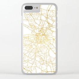 DUBLIN IRELAND CITY STREET MAP ART Clear iPhone Case