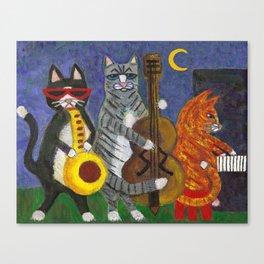 Jazz Cats Canvas Print